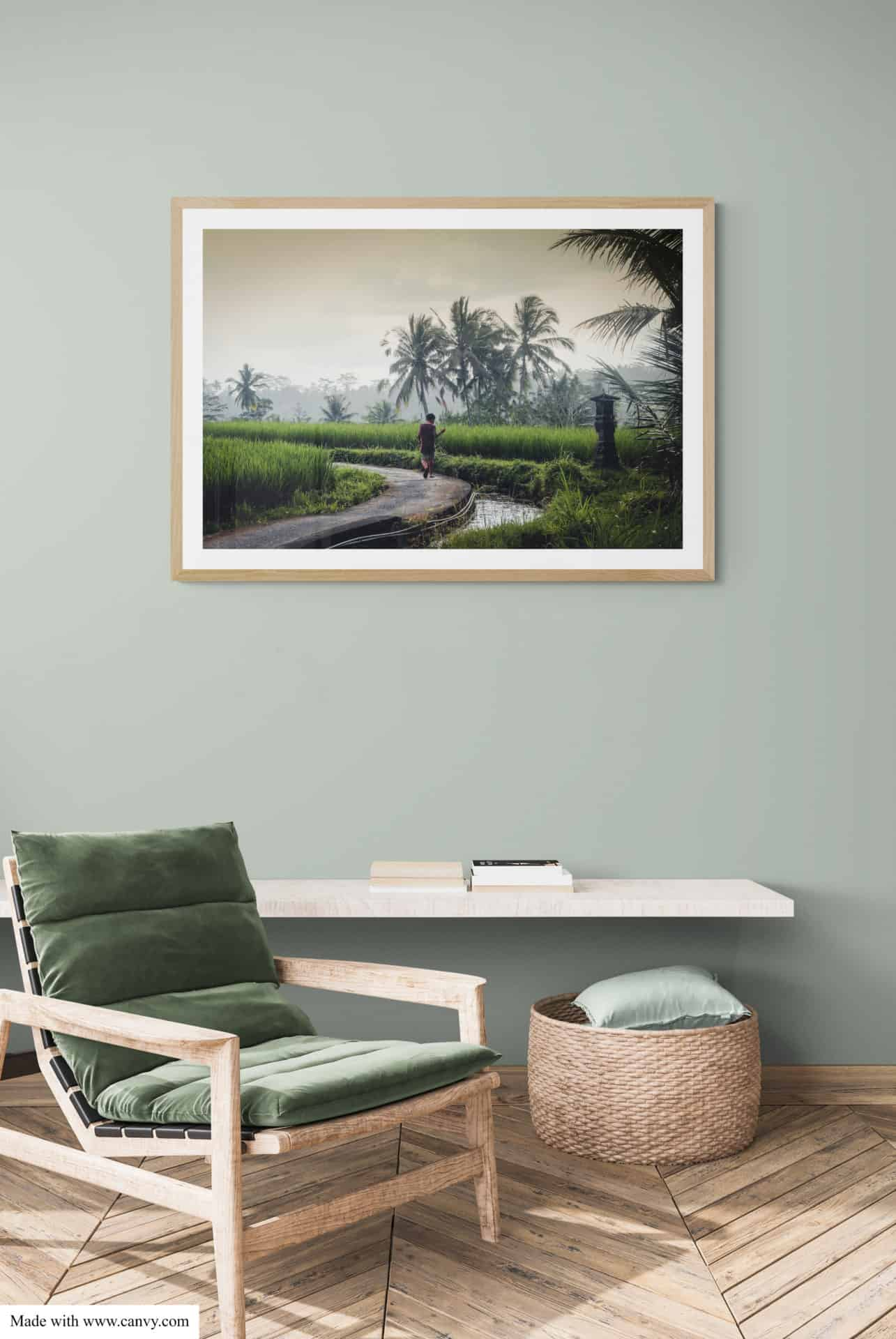 Wall art photograpy Bali fishing