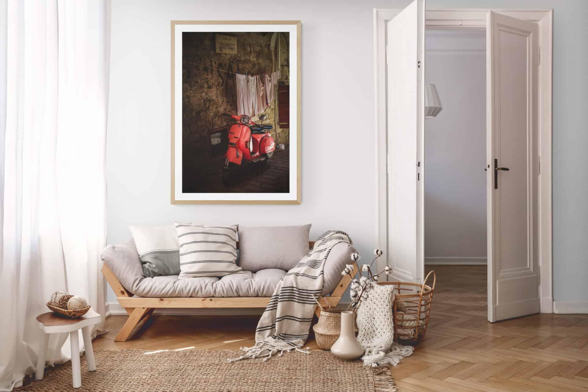 Wall art photograpy_vespa